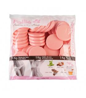 Pollié Bolsa 1kg Discos de Cera Rosa Pieles Sensibles