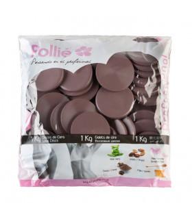Pollié Bolsa 1kg Discos de Cera Chocolate