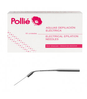 Pollié Caja 50 Agujas Depilar 1mm Inclinada Inoxidable