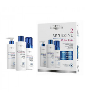 L' Oréal Pack Serioxyl Fuller Hair 2: Champú (250ml) + Acondicionador (250ml) + Tratamiento Densificante (150ml)